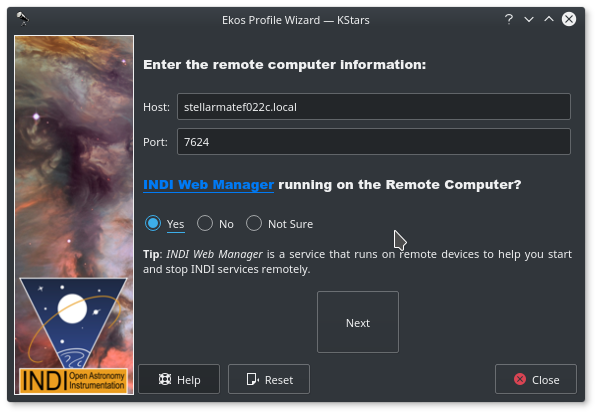 profile wizard remote