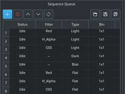sequence settings
