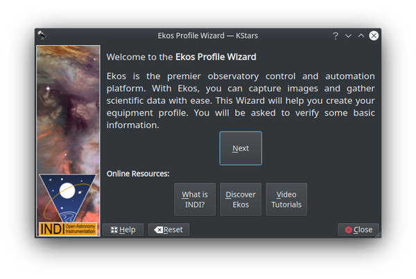 profile wizard welcome
